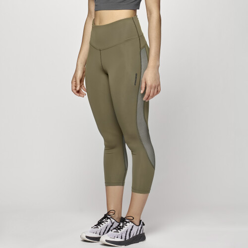 Leggings 7/8 X-Run Boston W - Khaki