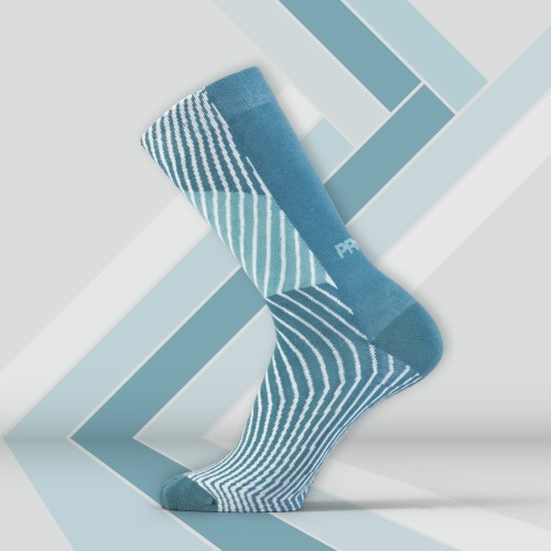 B-Style Socks - Sliced Blue