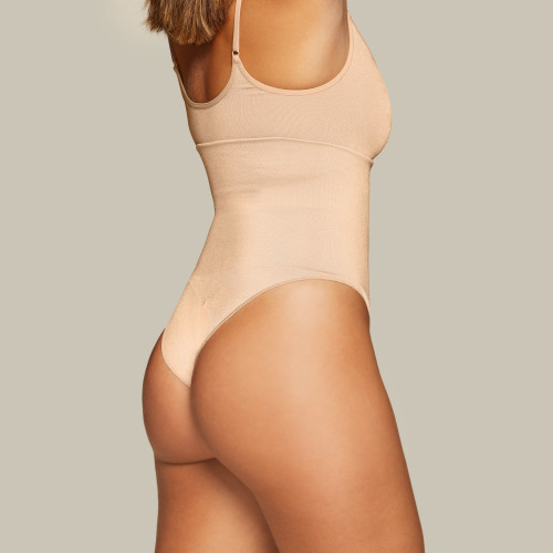 Silhouette Sculpting High Waist Classic Panties - Beige
