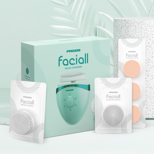 Faciall with replacement accessory kit - Green