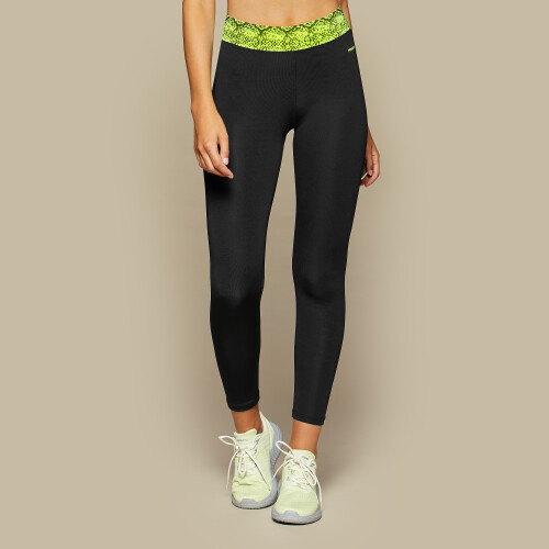 Leggings Crush Venice Python - Black