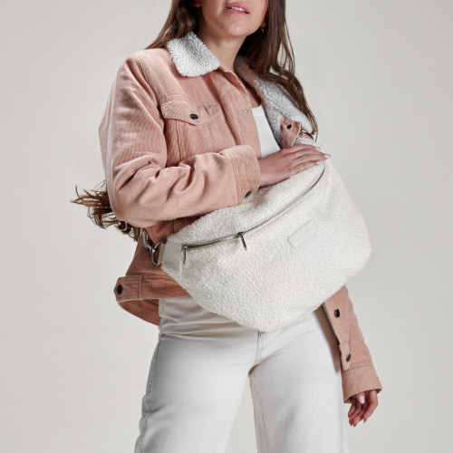 Heidi Oversized Waist Bag - Off White