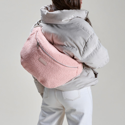 Heidi Oversized Waist Bag - Light Pink