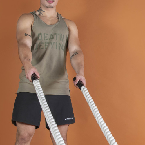 Army Tank Top - Death Defying Khaki