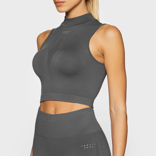 Peak Crop Top - Stratus Asphalt