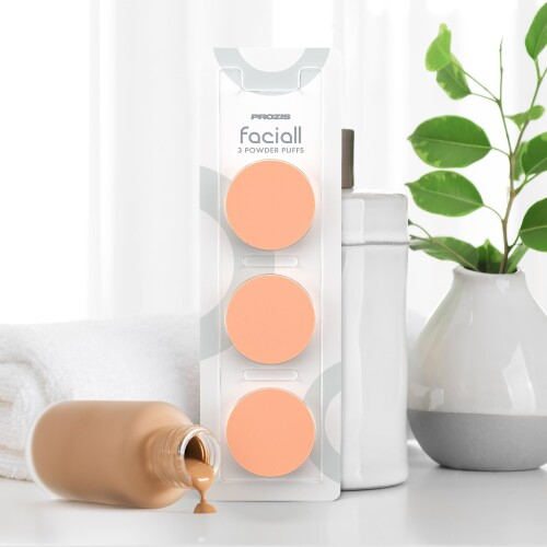 3 x Replacement Powder Puffs for Faciall