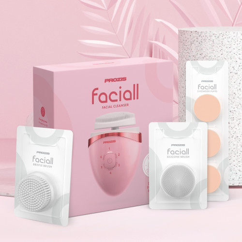 Faciall with replacement accessory kit - Pink