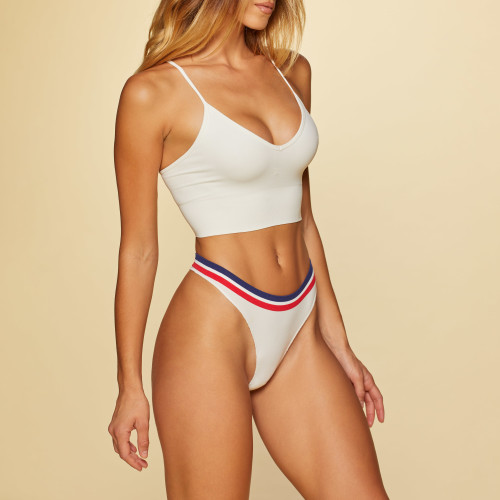 Athletic Dept. Elevé Seamless Bralette - White