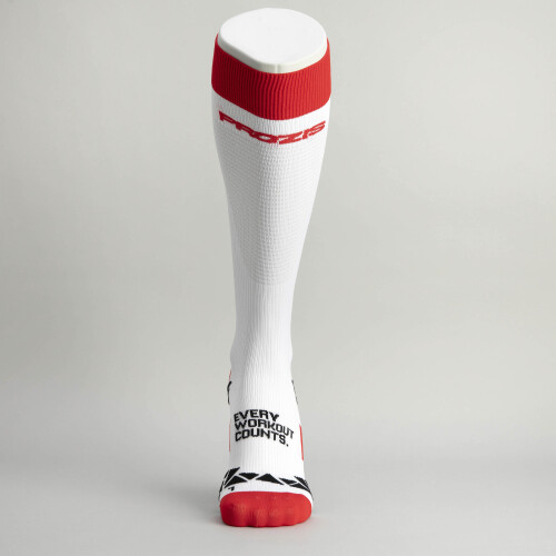 Comptech Compression Socks - Calf White-Red