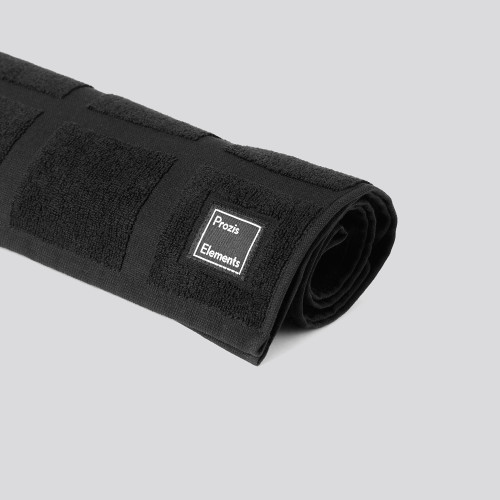 Elements 001 Gym Towel - Black