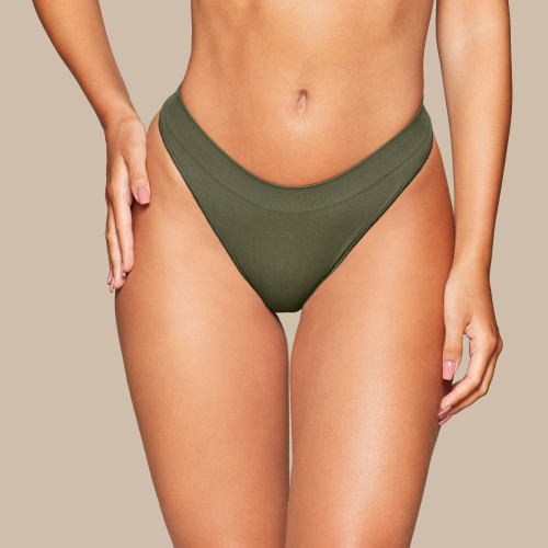 Daily Seamless Thong - Olive Green
