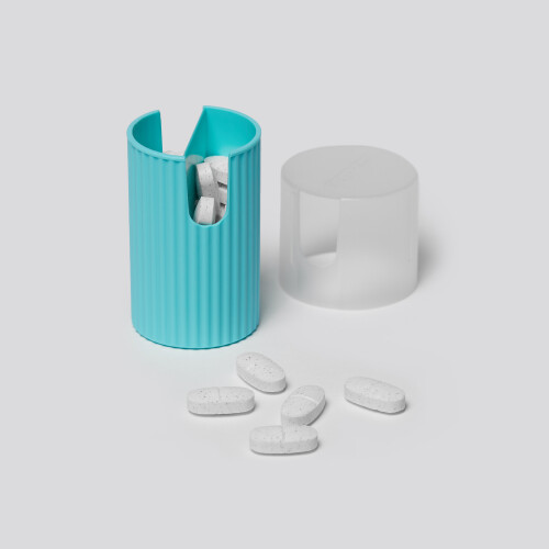 Groove Vertical Pillbox - Mint Green