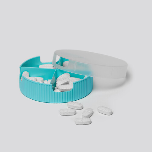 Groove Horizontal Pillbox - Mint Green