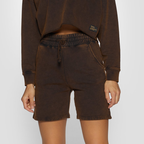 Army Combat Issue Fleece Shorts - Rust Brown