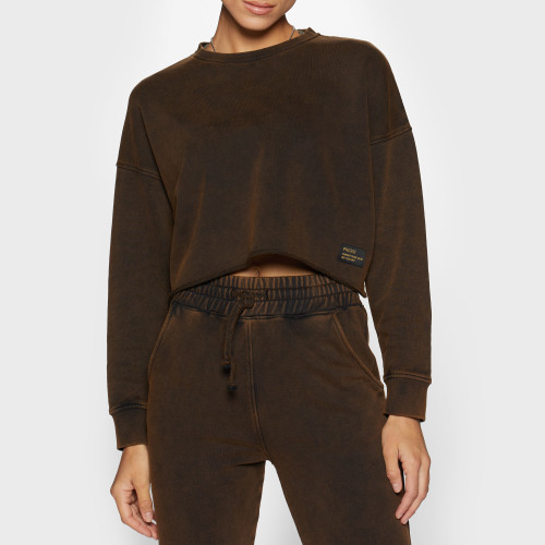 Army Combat Issue Crop Sweatshirt - Rust Brown