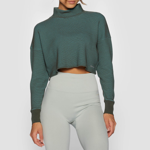 X-Skin Star Crop Sweater - Thyme