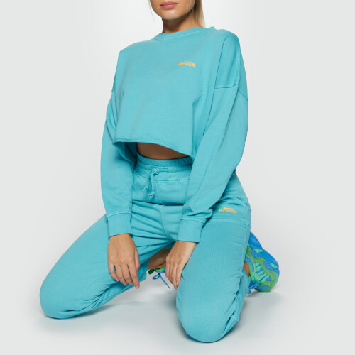 Crush Numero Uno Crop Sweatshirt - Blue