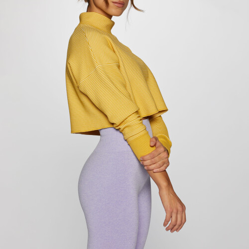 X-Skin Star Crop Sweater - Misted Yellow