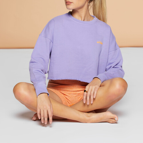 Crush Numero Uno Crop Sweatshirt - Purple