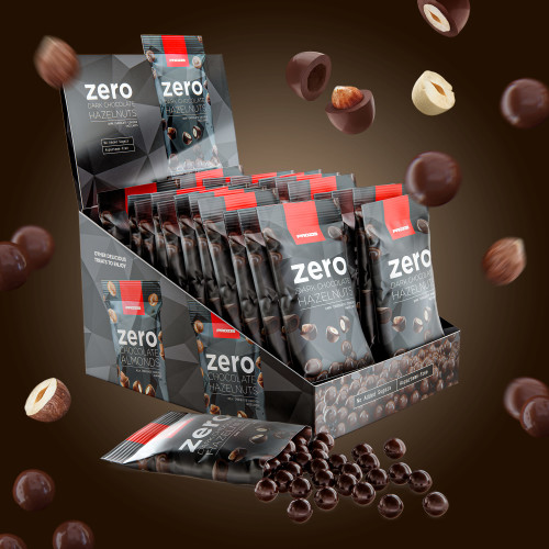 22 x Zero Dark Chocolate Hazelnuts 40g