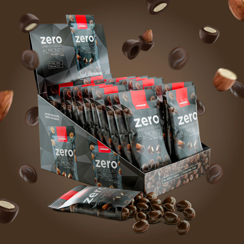 22 x Zero Dark Chocolate Almonds 40g