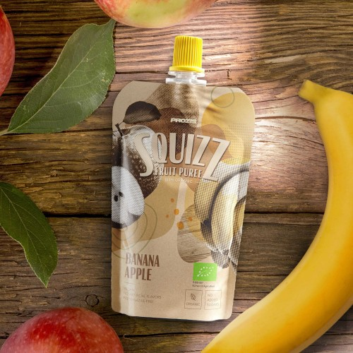 Squizz - 100% Organic Fruit Puree - Banana e Maçã 100 g