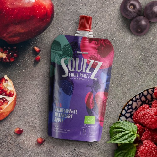 Squizz - Superfood Fruit Puree - Açaí, Melograno, Lampone e Mela 100 g