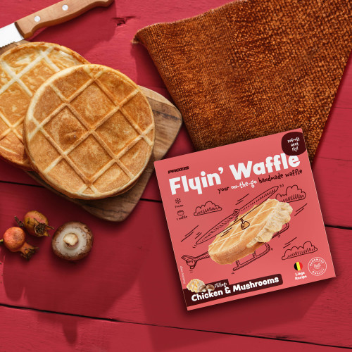 Flying Waffle - Chicken & Mushrooms 160g