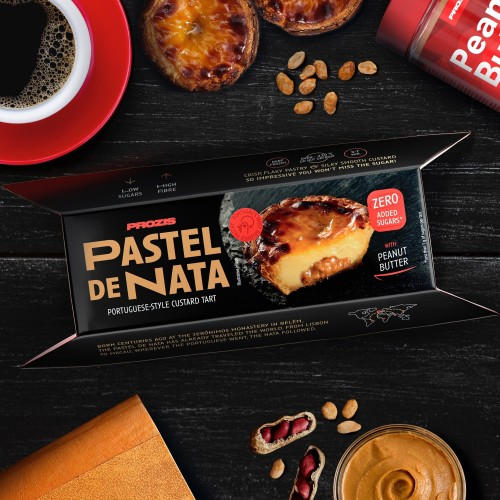 4 x Pastel de Nata - Portuguese Peanut Butter Custard Tart - No added Sugars 65g