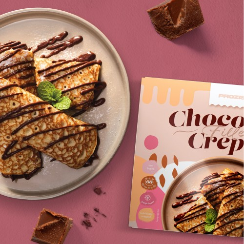 4 x Crepes filled with Chocolate No Added Sugar 90g