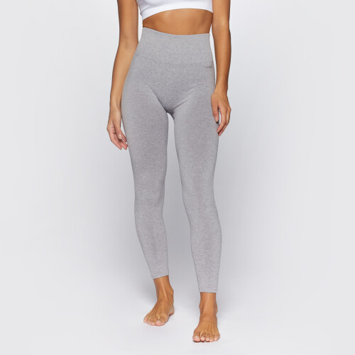 Elements WS001 High Waist Leggings - Light Gray Melange
