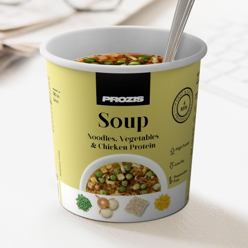 Protein Noodle & Vegetable Soup with Chicken Protein