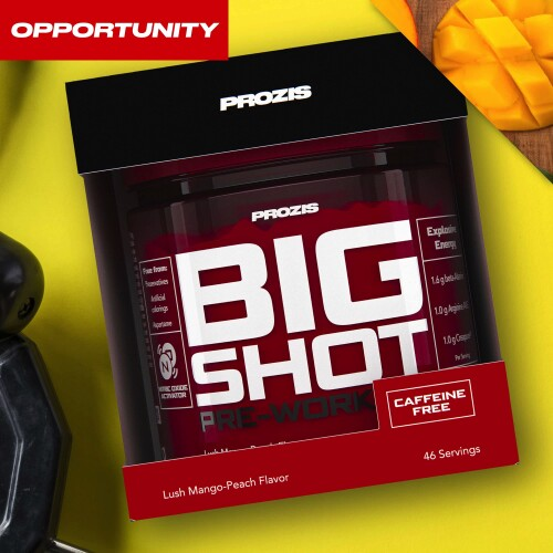 Big Shot - Pre-Workout Caffeine Free 46 servings Opportunity