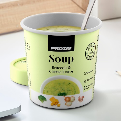 Protein Broccoli Soup with Cheese Flavor