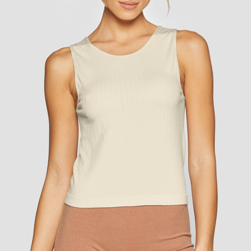 X-Skin Wellness Wool Tank Top - Beige