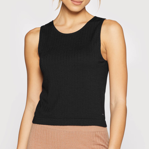 X-Skin Wellness Wool Tank Top - Black