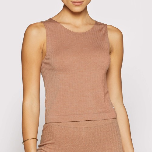X-Skin Wellness Wool Tank Top - Camel