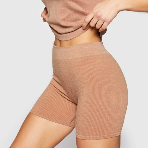 X-Skin Wellness Wool Medium Shorts - Camel