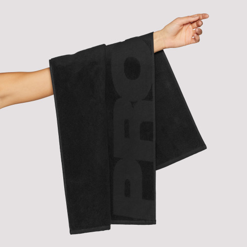 Script Gym Towel - Black