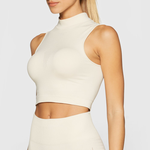 Peak Stratus Crop Top - Ivory