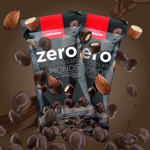 2 x Zero Dark Chocolate Almonds 40 g