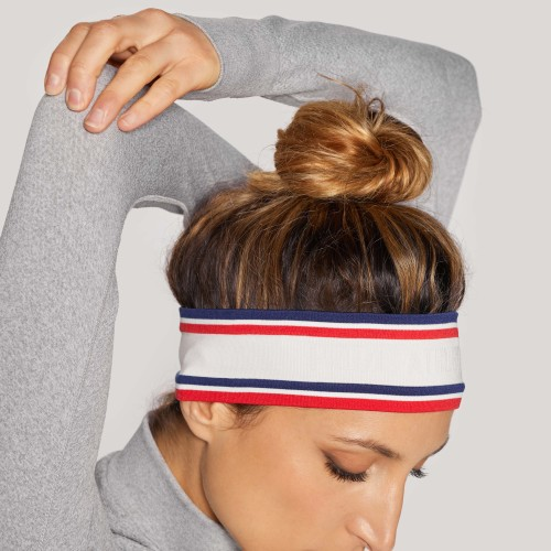Athletic Dept. Track Club Headband - White