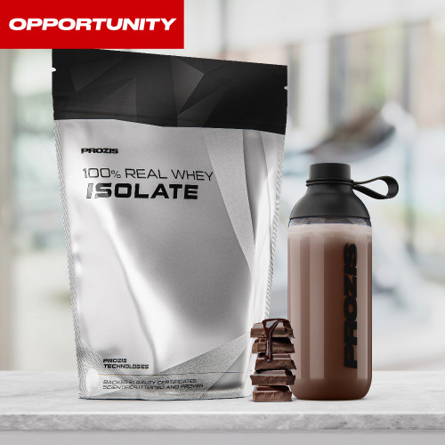 100% Real Whey Isolate 1000 g + Free 2 x Zero Shake RTD 250 ml