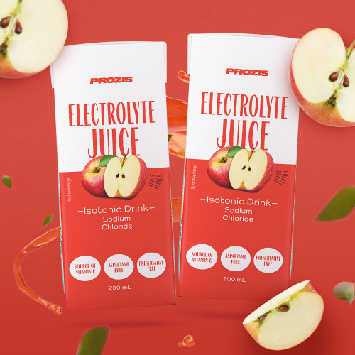 2 x Electrolyte Juice - Isotonic Drink with Electrolytes 200 ml - Apple