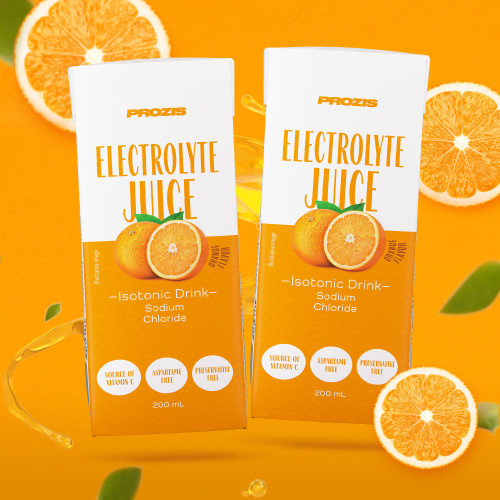 2 x Electrolyte Juice - Isotonic Drink with Electrolytes 200 ml - Orange