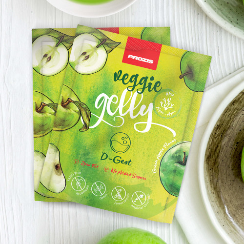 2 x Veggie Gelly - D-Gest 15 g Green Apple