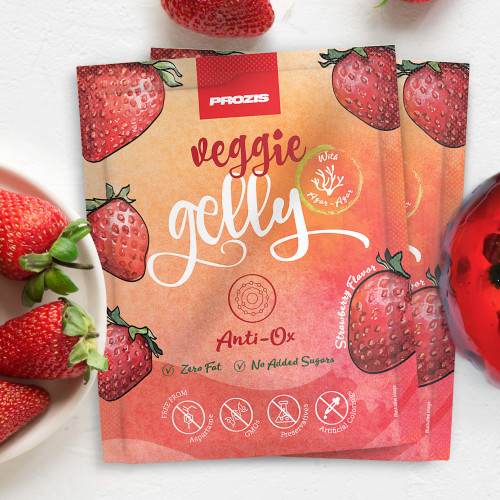 2 x Veggie Gelly - Anti-Ox 15 g Morango