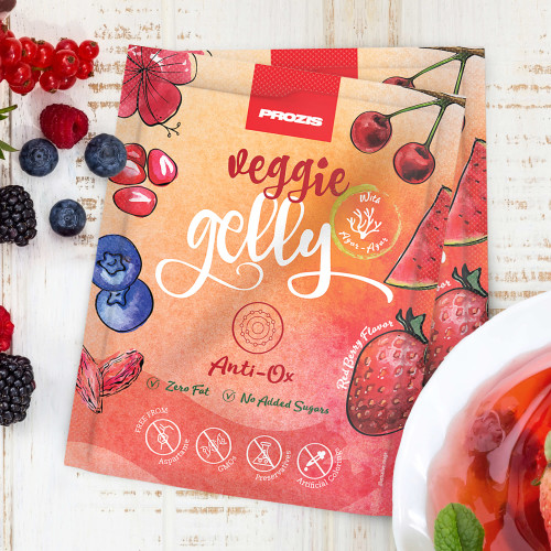 2 x Veggie Gelly - Anti-Ox 15 g Red Berries