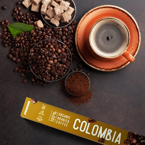 100% Organic Arabica Coffee - Colombia 10 caps