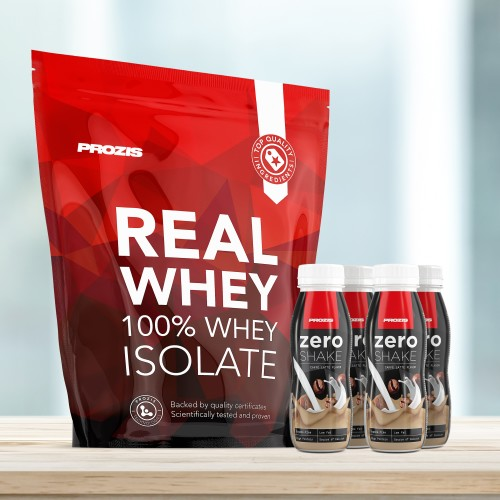 Natural Real Whey Isolate 2000 g + 4 x Zero Shake RTD 250 ml Grátis